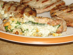 Spinach & Cheese-Stuffed Pork Chops