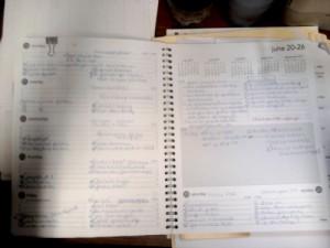My Very Full Schedule from Last Week